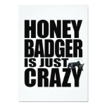 Honey Badger Is Just Crazy Invitation