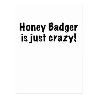 Honey Badger is just Crazy Postcard