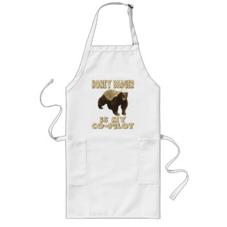 Honey Badger Is My Co-Pilot Aprons