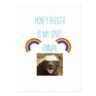 Honey badger is my spirit animal postcard