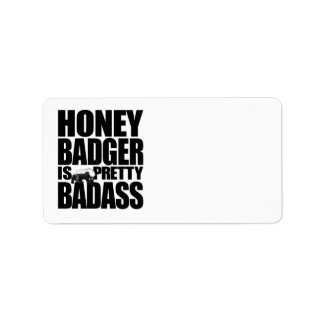 Honey Badger Is Pretty Badass Labels