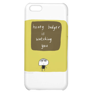 Honey badger is watching you cover for iPhone 5C