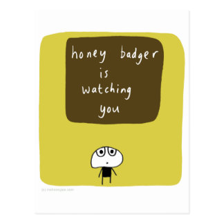 Honey badger is watching you postcard