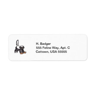 Honey Badger Return Address Label