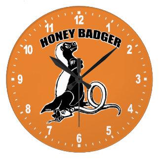 Honey badger large clock