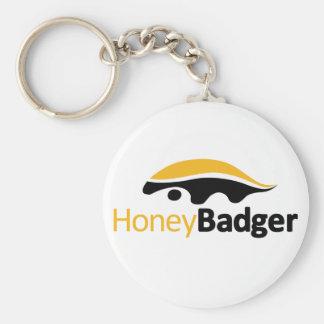 Honey Badger Logo Key Ring