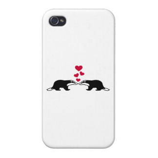 Honey badger love hearts cover for iPhone 4