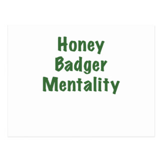 Honey Badger Mentality Postcard