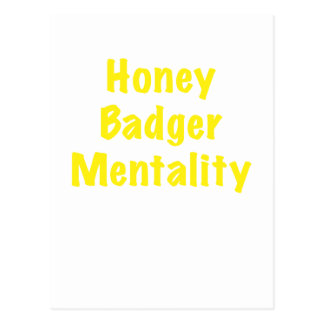 Honey Badger Mentality Postcard