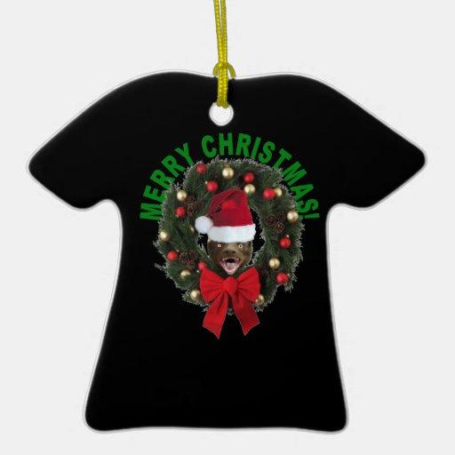 Honey Badger Merry Christmas T-shirt Ornament