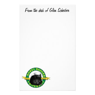 Honey Badger NotePad Stationery Paper