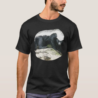 Honey Badger on a Wood stump t-shirt