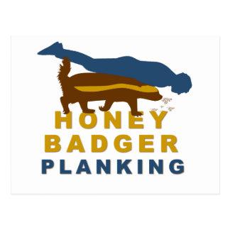 honey badger planking postcard