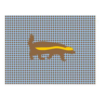 Honey Badger Polka Dots Postcards