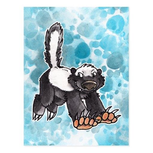Honey Badger Post Card