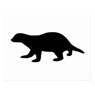 Honey Badger Postcard