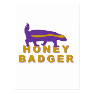 honey badger postcard