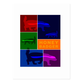 honey badger post cards