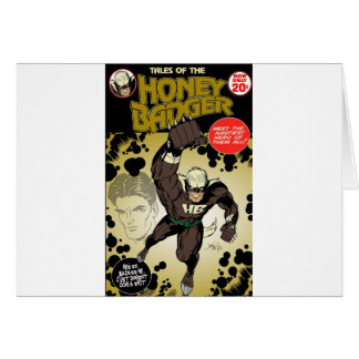 Honey badger retro greeting card