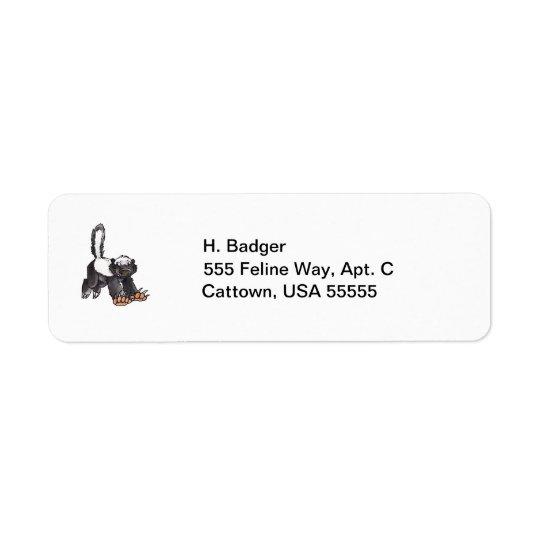 Honey Badger Return Address Label