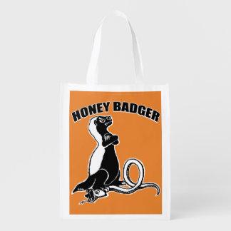 Honey badger reusable grocery bag