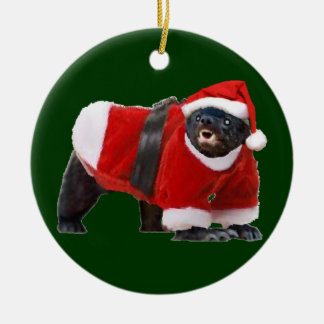 Honey Badger Santa Christmas Tree Ornament