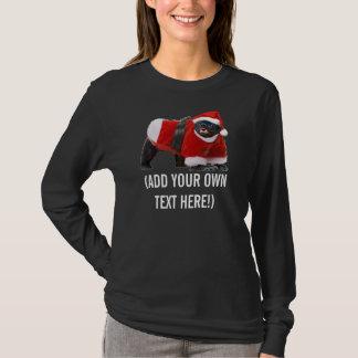 Honey Badger Santa Customizable T-shirt
