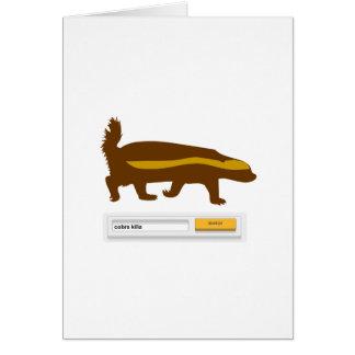 Honey Badger Search - Cobra Killa Greeting Card