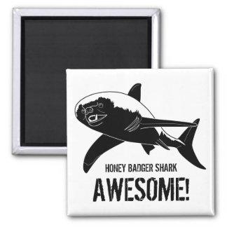 Honey Badger Shark Awesome! Square Magnet