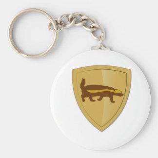 Honey Badger Shield & Crest Key Ring