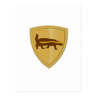Honey Badger Shield & Crest Postcard