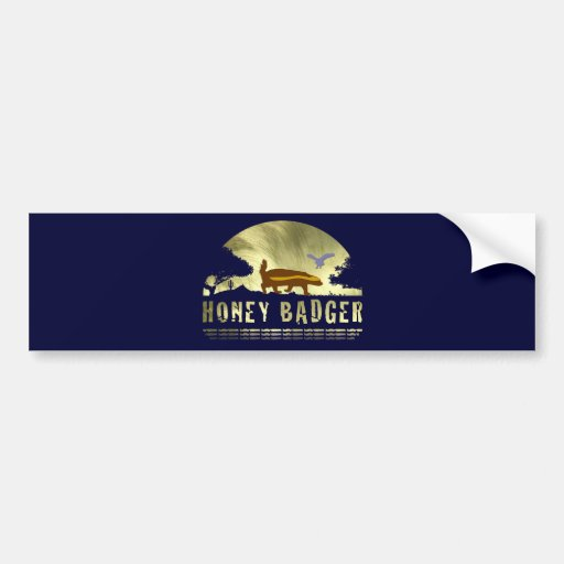Honey Badger Silhouette Bumper Sticker