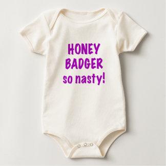 Honey Badger So Nasty Rompers