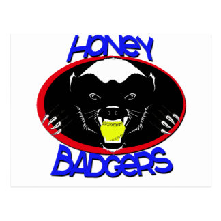 Honey Badger Softball Postcard