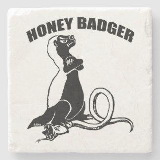 Honey badger stone coaster