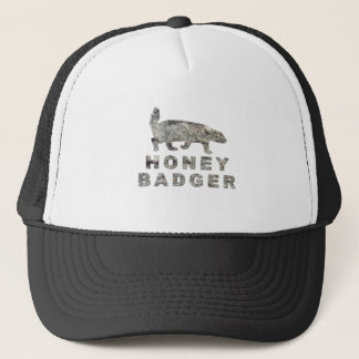 honey badger stone trucker hat