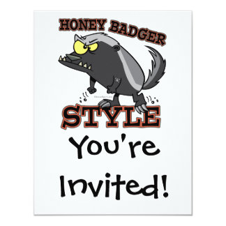 HONEY BADGER STYLE 11 CM X 14 CM INVITATION CARD
