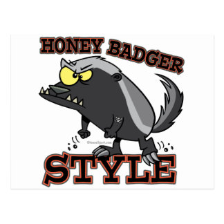 HONEY BADGER STYLE POST CARD