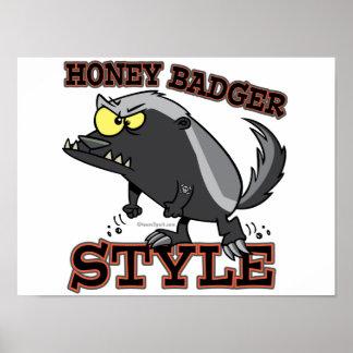 HONEY BADGER STYLE POSTER