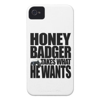 Honey Badger Takes What He Wants iPhone 4 Cover
