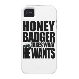 Honey Badger Takes What He Wants Vibe iPhone 4 Cases
