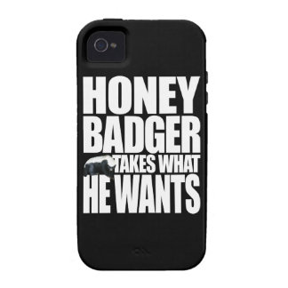 Honey Badger Takes What He Wants iPhone 4/4S Covers