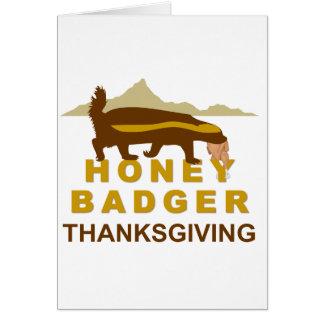 honey badger thanksgiving greeting card