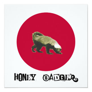 Honey Badger Theme Party Custom Invite