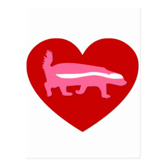 honey badger valentine postcard