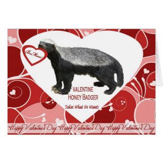 Honey Badger Valentine s Day Card