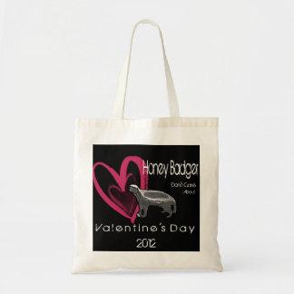 Honey Badger Valentine's Day Tote Bag