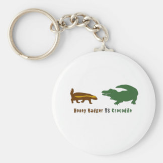 Honey Badger VS Crocodile Key Ring