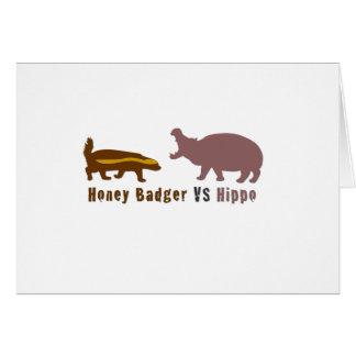 Honey Badger vs Hippo Card