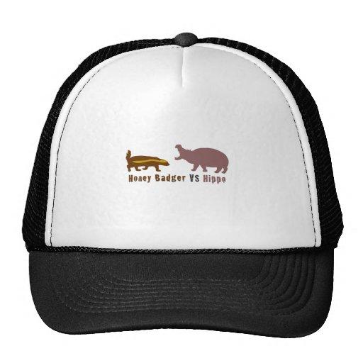 Honey Badger vs Hippo Mesh Hat